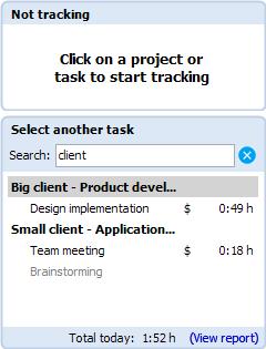 Toggl Desktop start using