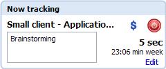 Toggl Desktop earlier task