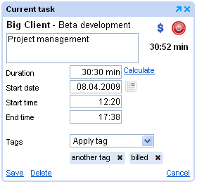 Tags In Timer