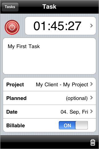Toggl Timer screenshot