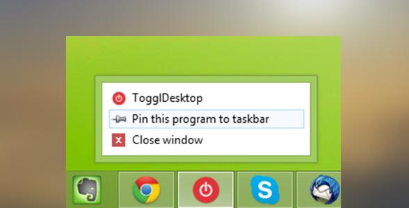 Pin to taskbar blogisse