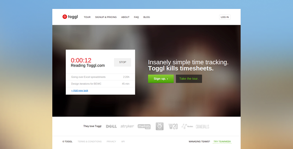 Toggl timer public web in 2013