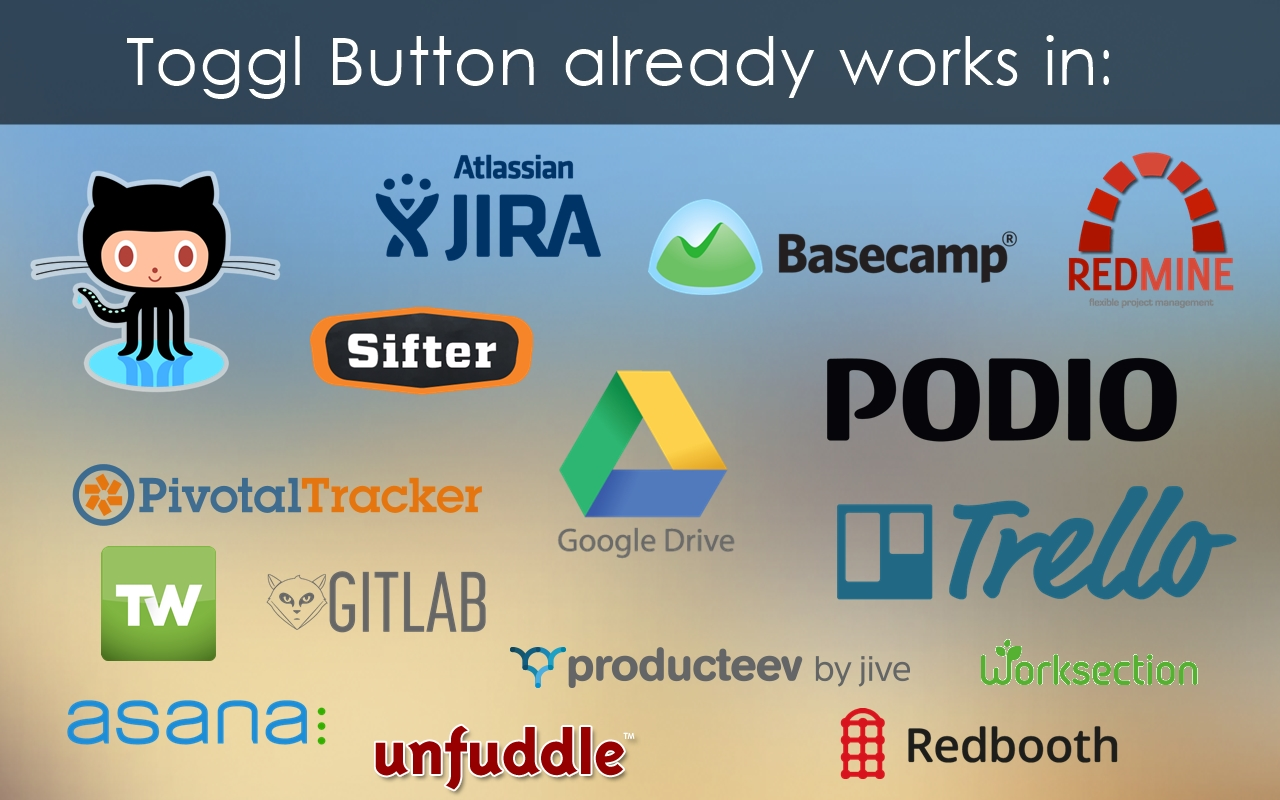 Toggl Button Integrates With