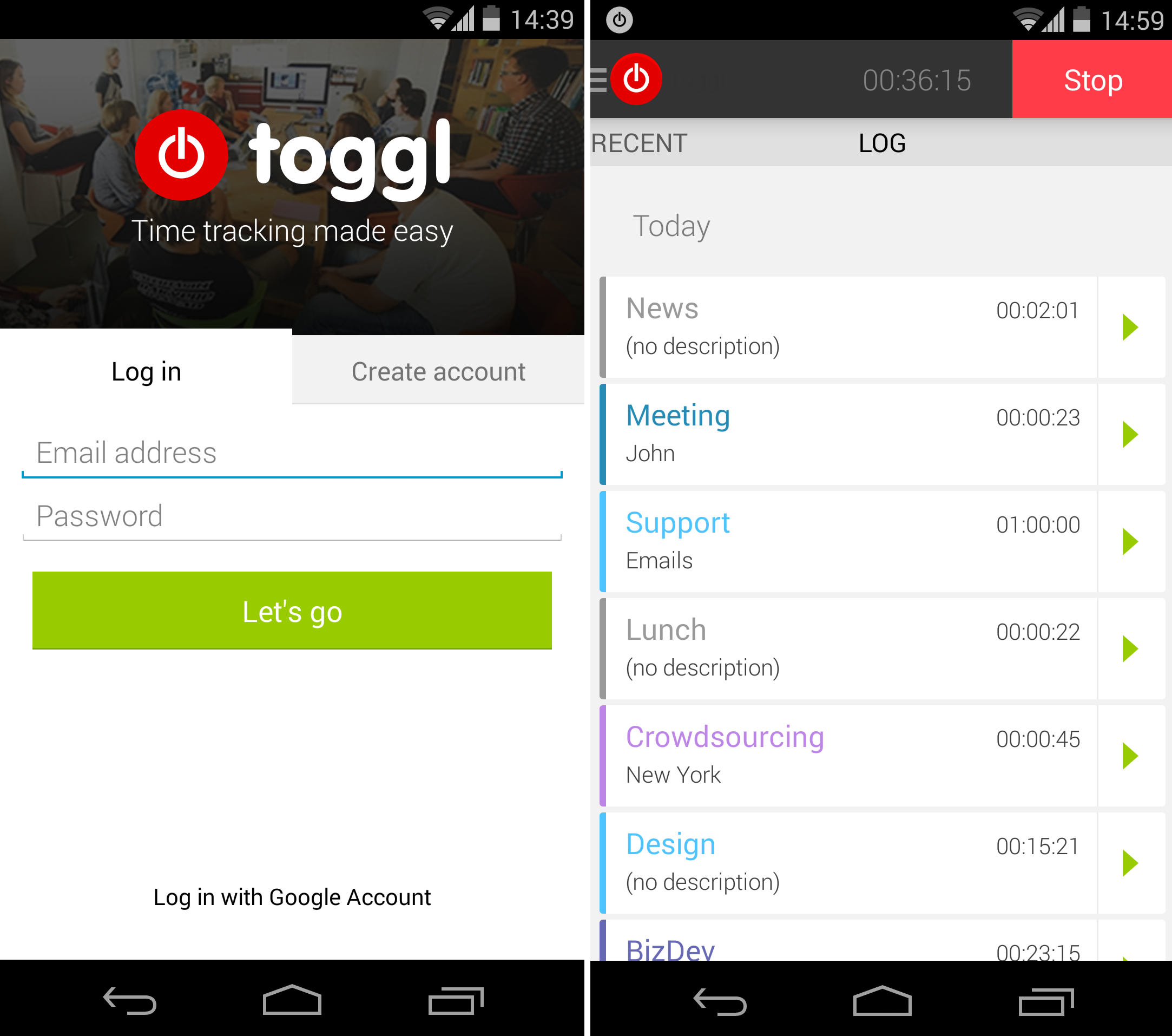 Image result for toggl app