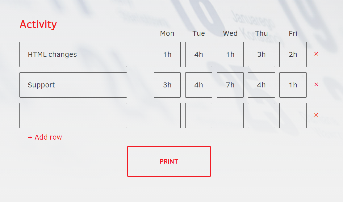 Online Printable Timesheet Template In Under 5 Seconds