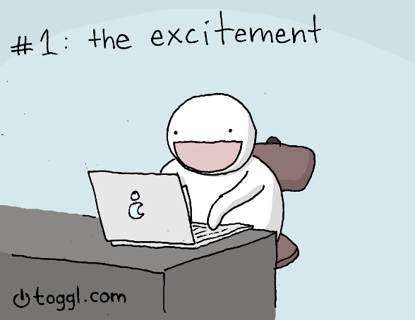 01 - excited programmer comic