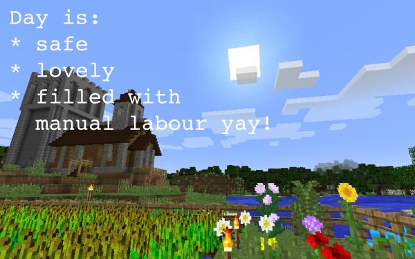 Minecraft daytime characteristics