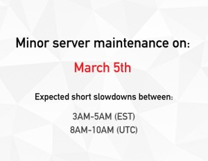 toggl server minor maintenance march 5