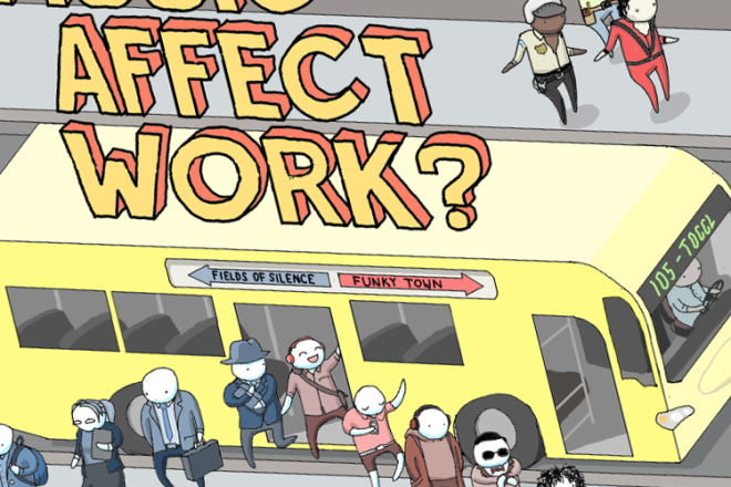 How does music affect work - post cover