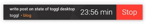 Toggl Desktop mini timer