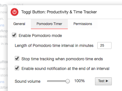 toggl button pomodoro mode