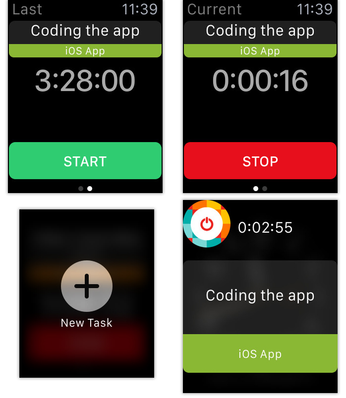 toggl-leto-location-timer-ui-examples