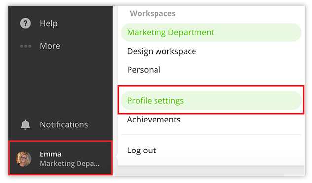 toggl-how-to-access-profile-settings-and-workspaces