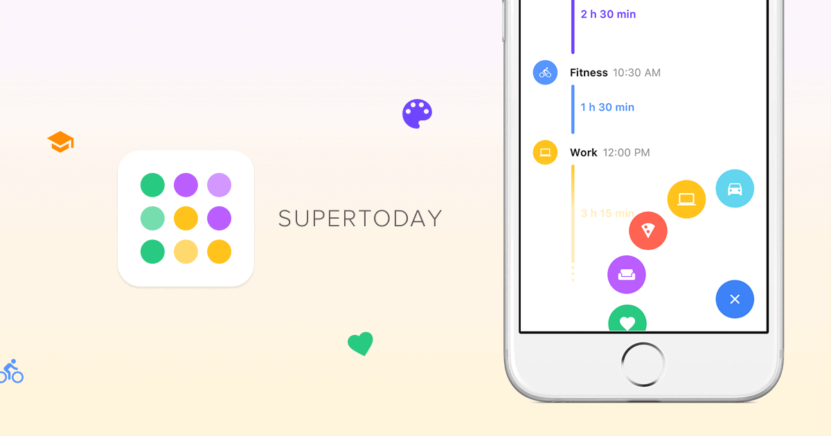supertoday uses your location info to automatically log your activities and health app data for improved activity tracking shows where your