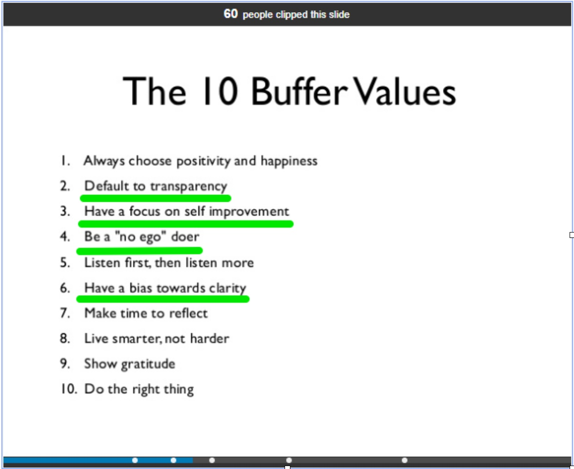 Buffer Values