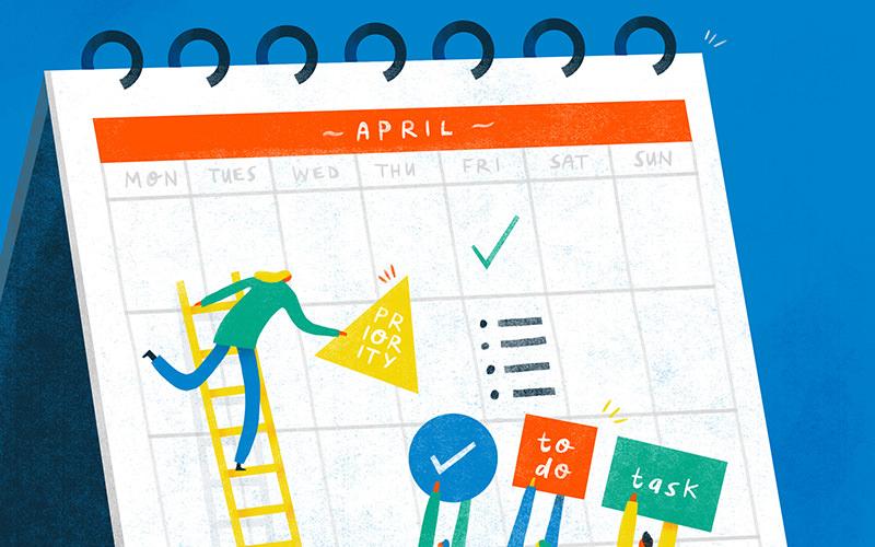 project management calendar