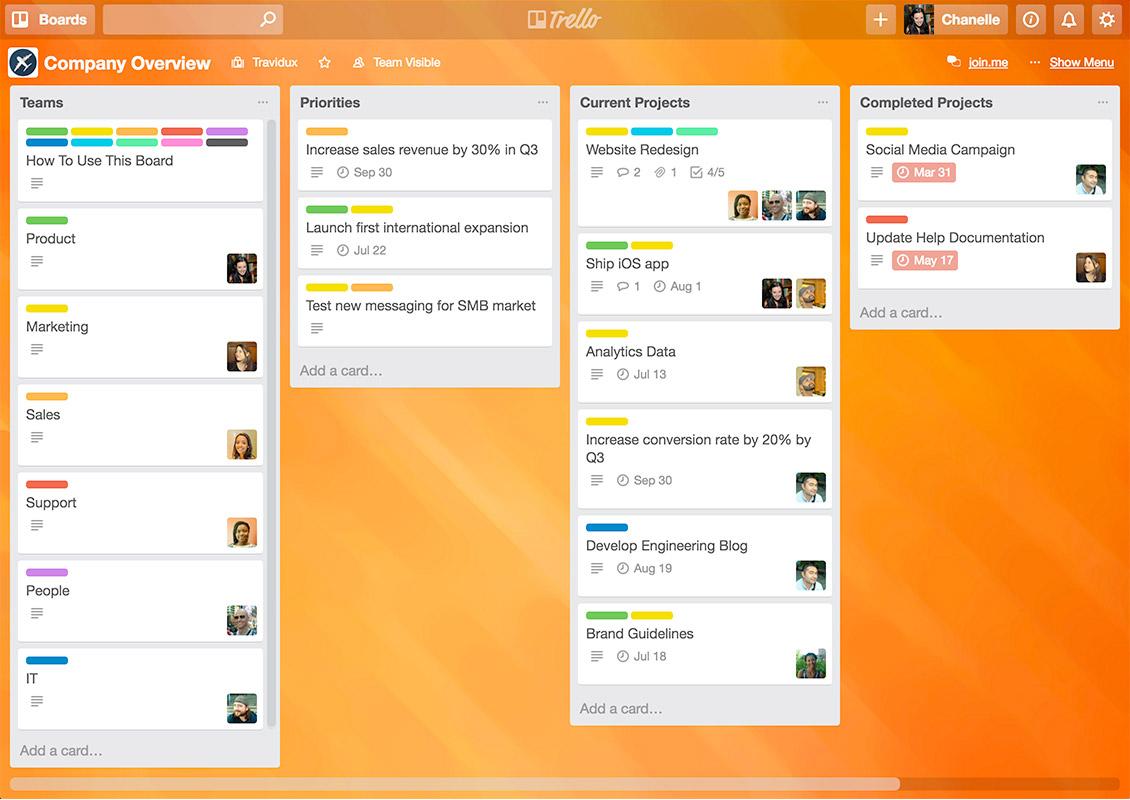 Team Collaboration Tool: Trello screenshot