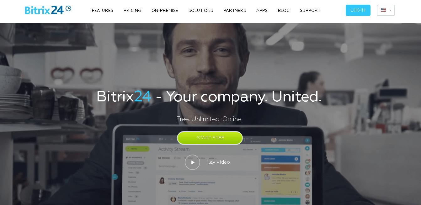 Bitrix24 frontpage