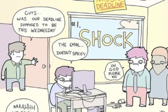 The 7 Stages Of A Fast Approaching Deadline [Comic]