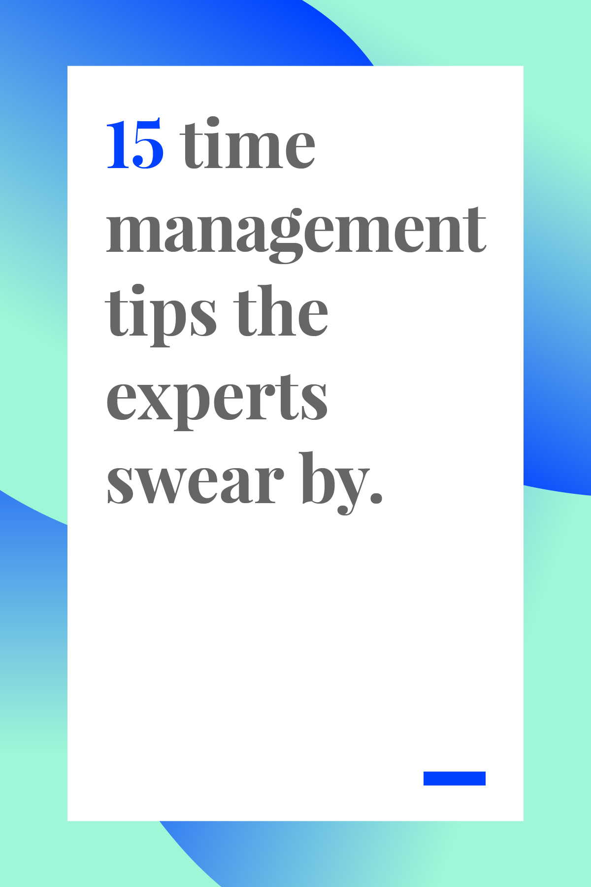 These 15 time management tips will boost your productivity and help you manage your time like a boss. Pin now and read later. #timemanagement