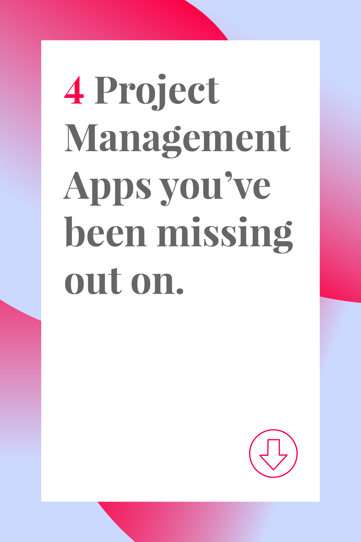 Have you tried these top secret project management apps yet? Click through to find out about 4 project management tools you've been missing out on. #projectmanger