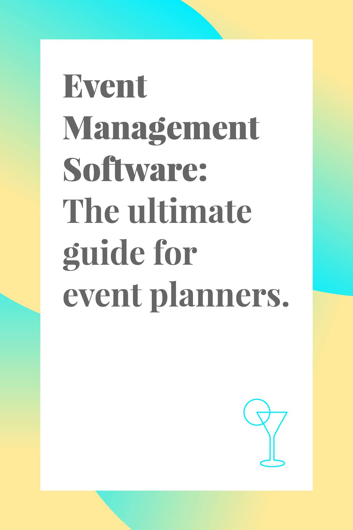 Here's a comprehensive list of event management software that every event planner needs to know about. Pin now and read later! #eventplanner #eventmanagement