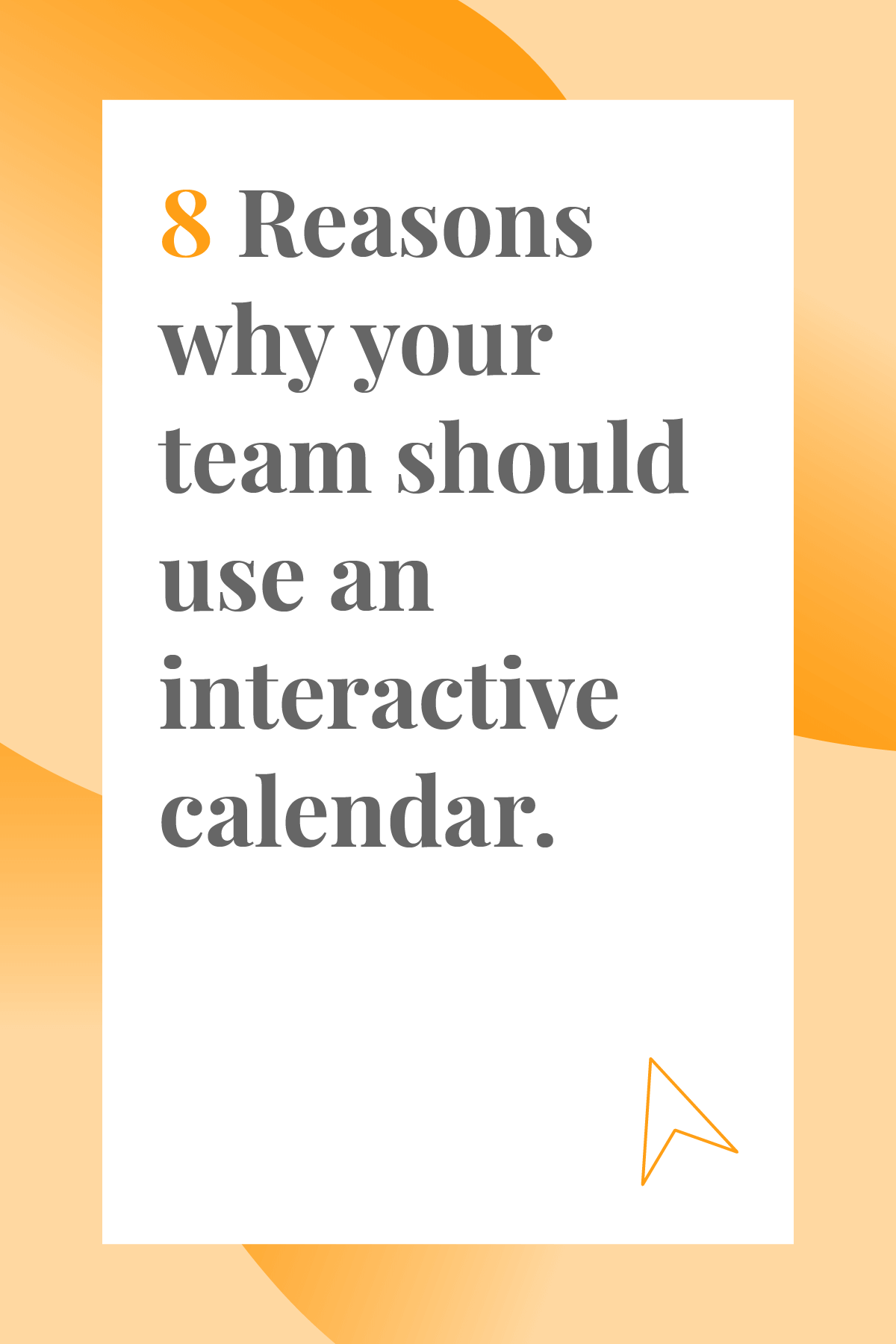 If your team isn't using an interactive calendar yet, now's the time to start. Here are 8 reasons why an interactive calendar will make team management so much easier, plus our advice on which calendars to try first.