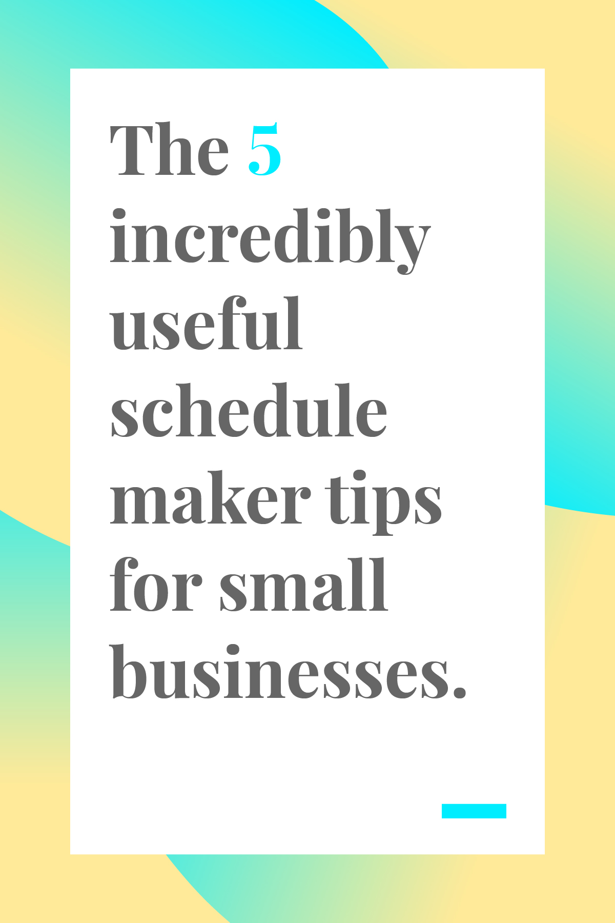 If you need to make a schedule for your small business or team, these schedule maker tips will help you manage everyone's time and get the big picture overview for all your projects. #timemanagement #productivity