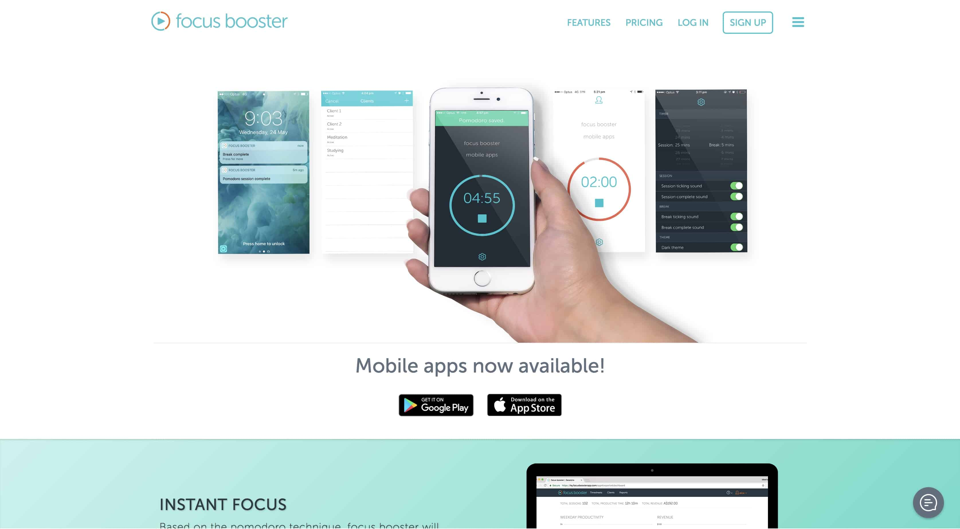 focusbooster time management apps