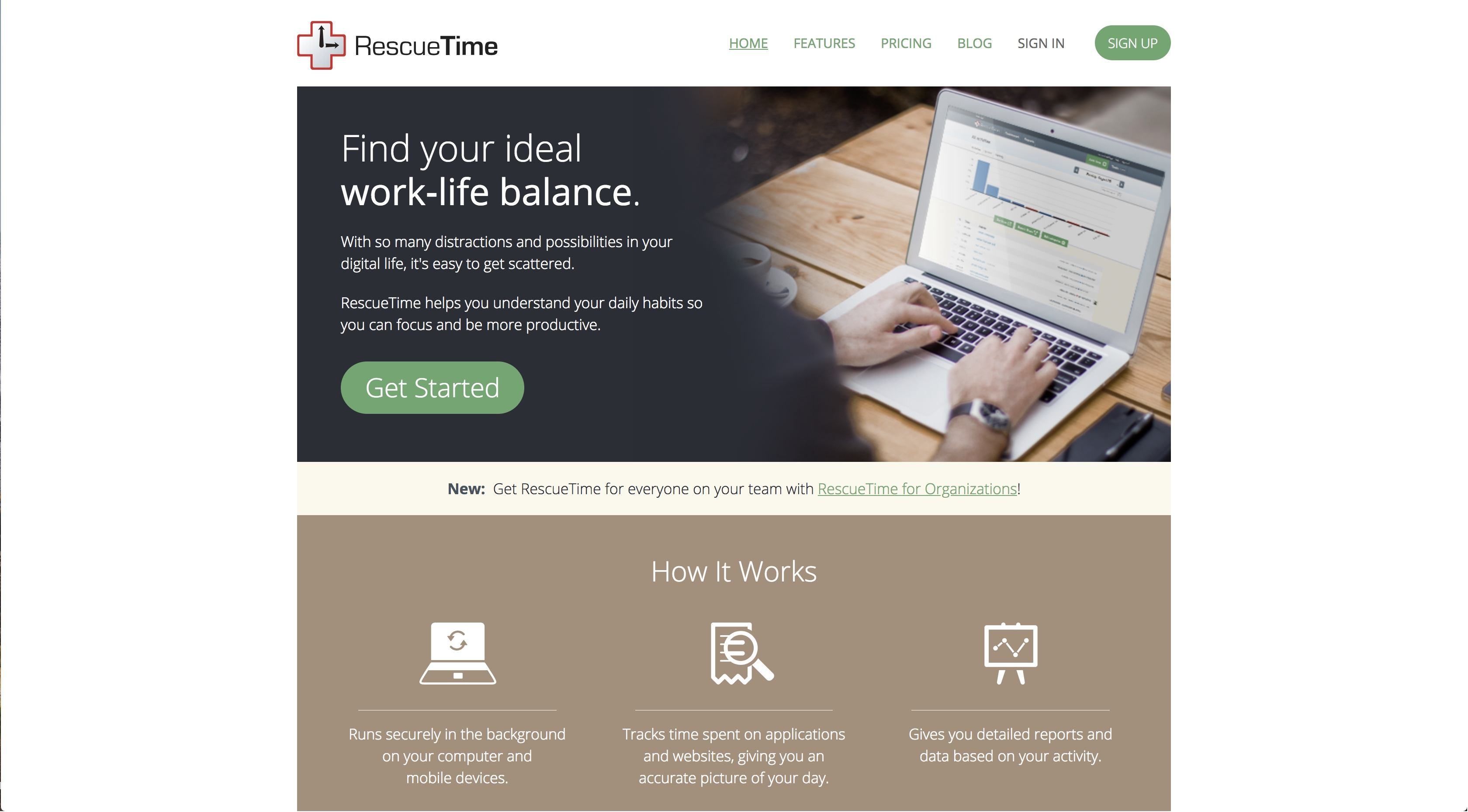Rescue Time improve time management skills
