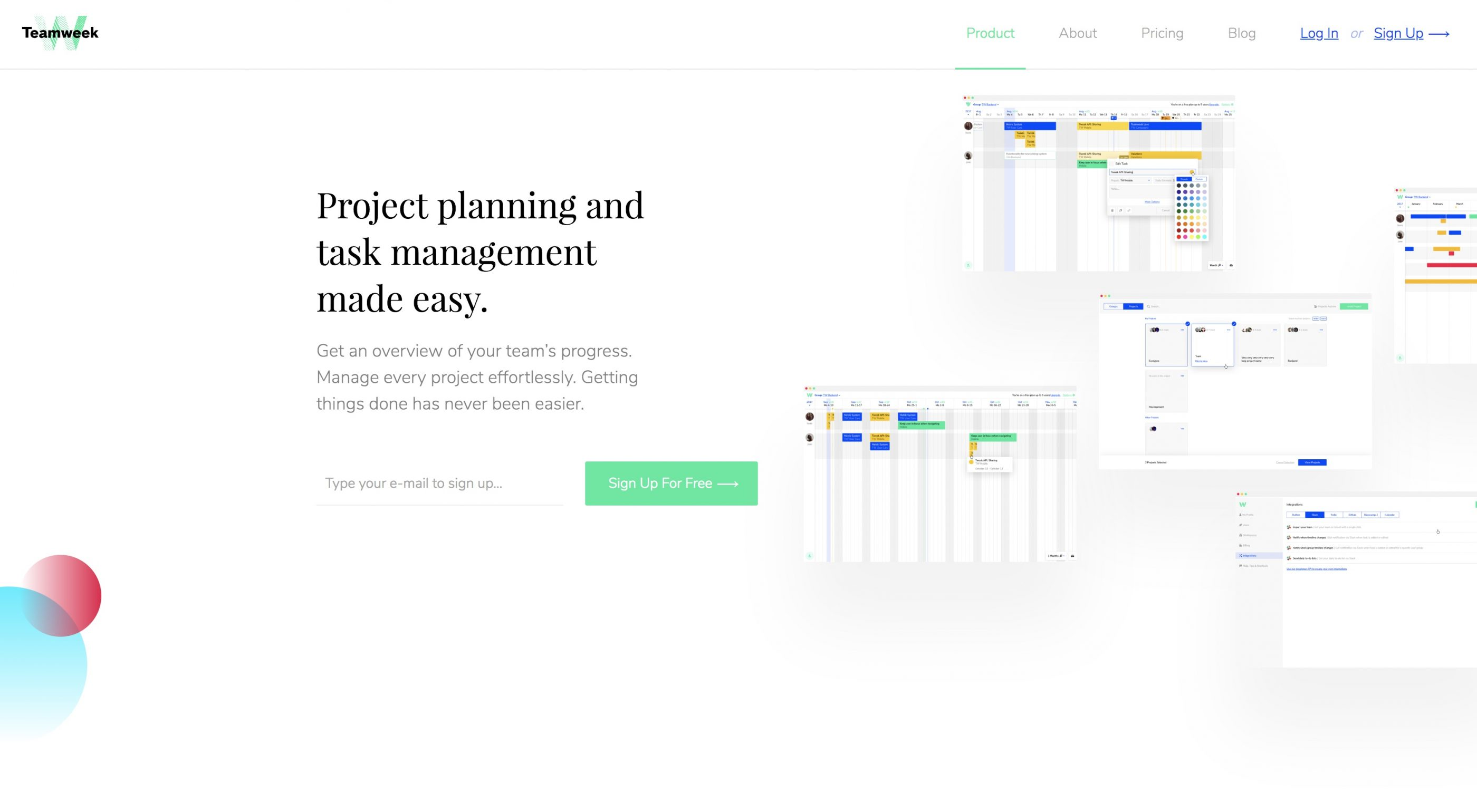 Business management software for design agencies: Teamweek