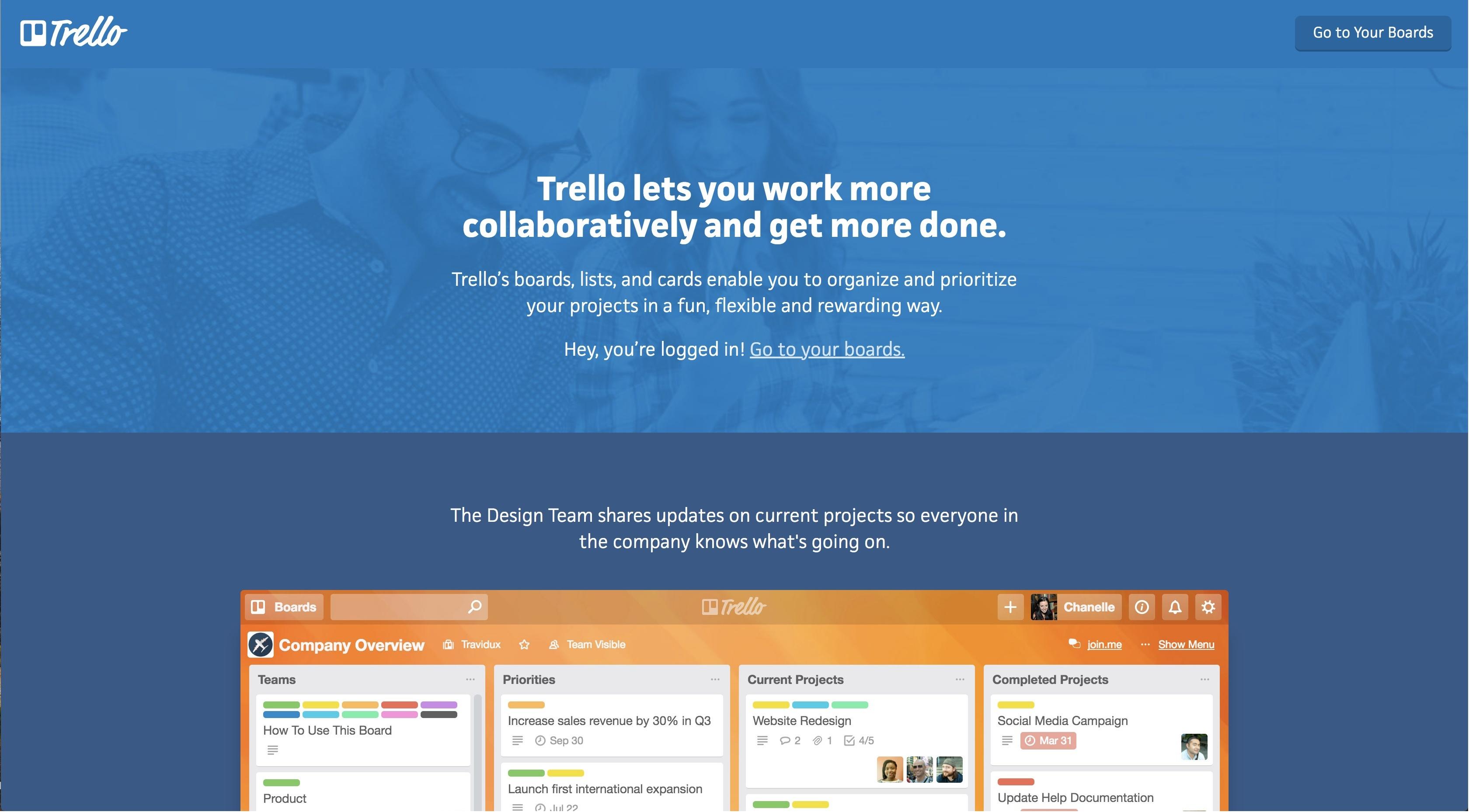 time management app Trello