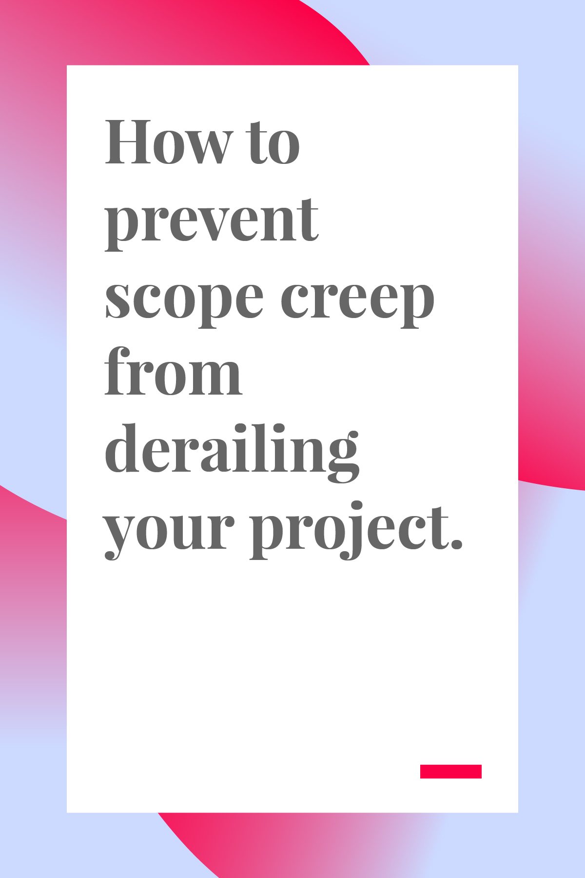 There's nothing worse than scope creep, especially when it threatens to derail your project. If you're a project manager or team lead, this article is mandatory reading! #projectmanager #projectmanagement