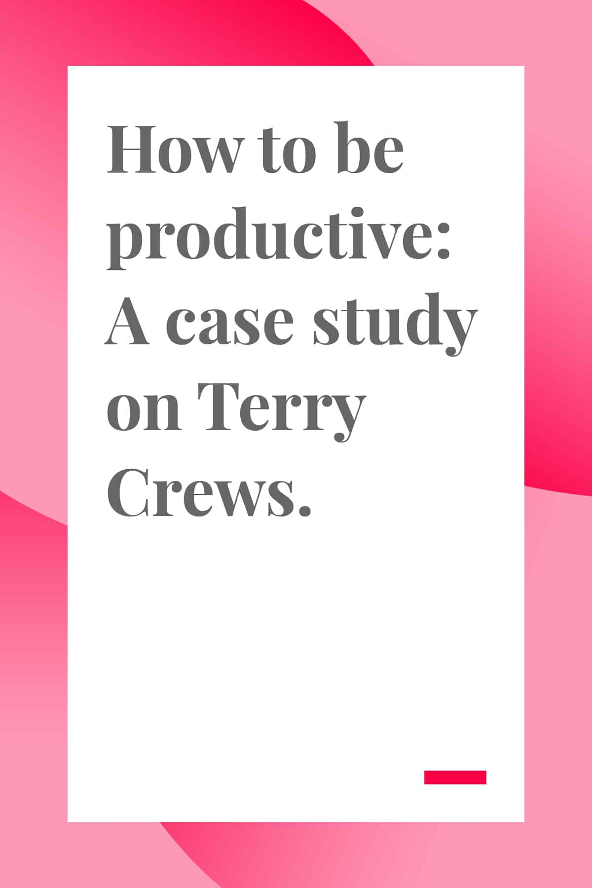 Want to be more productive? In this case study, Terry Crews shares his daily schedule with lots of productivity hacks and tips. #productivity