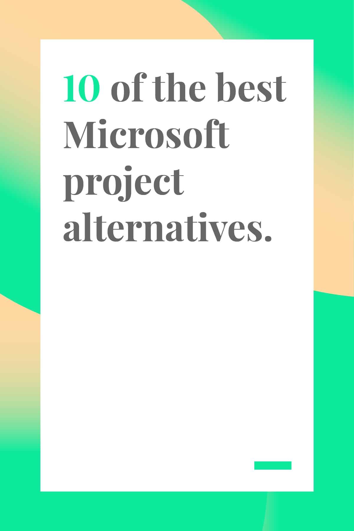 Looking for a Microsoft Project alternative that won't break the bank? Check out this round-up of affordable and effective project management tools. #projectmanagement #projectmanager