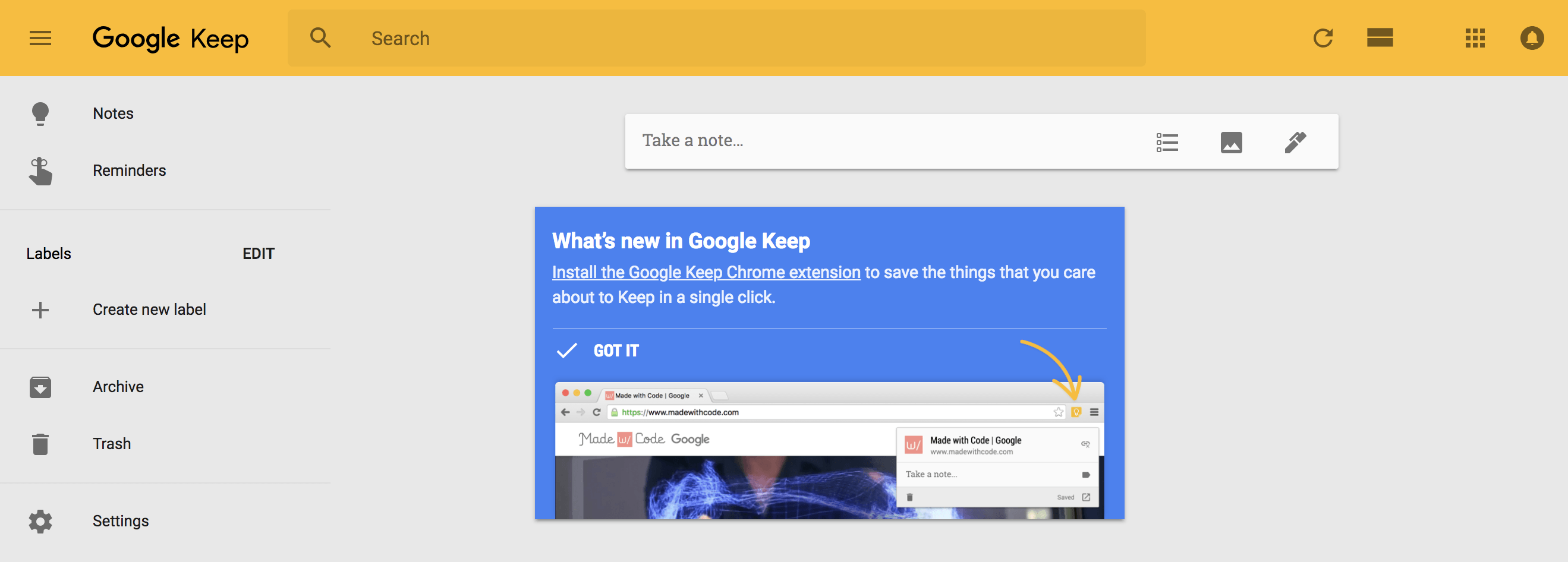 google keep to do checklist