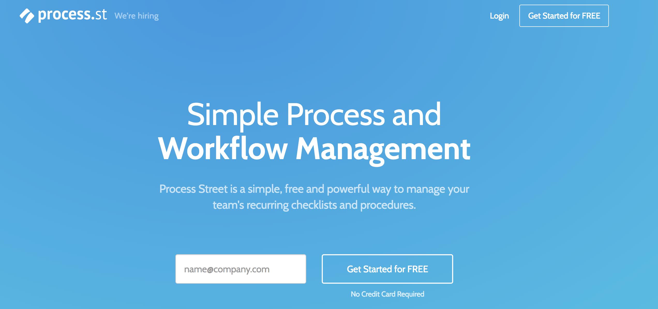 Process Street daily checklist app