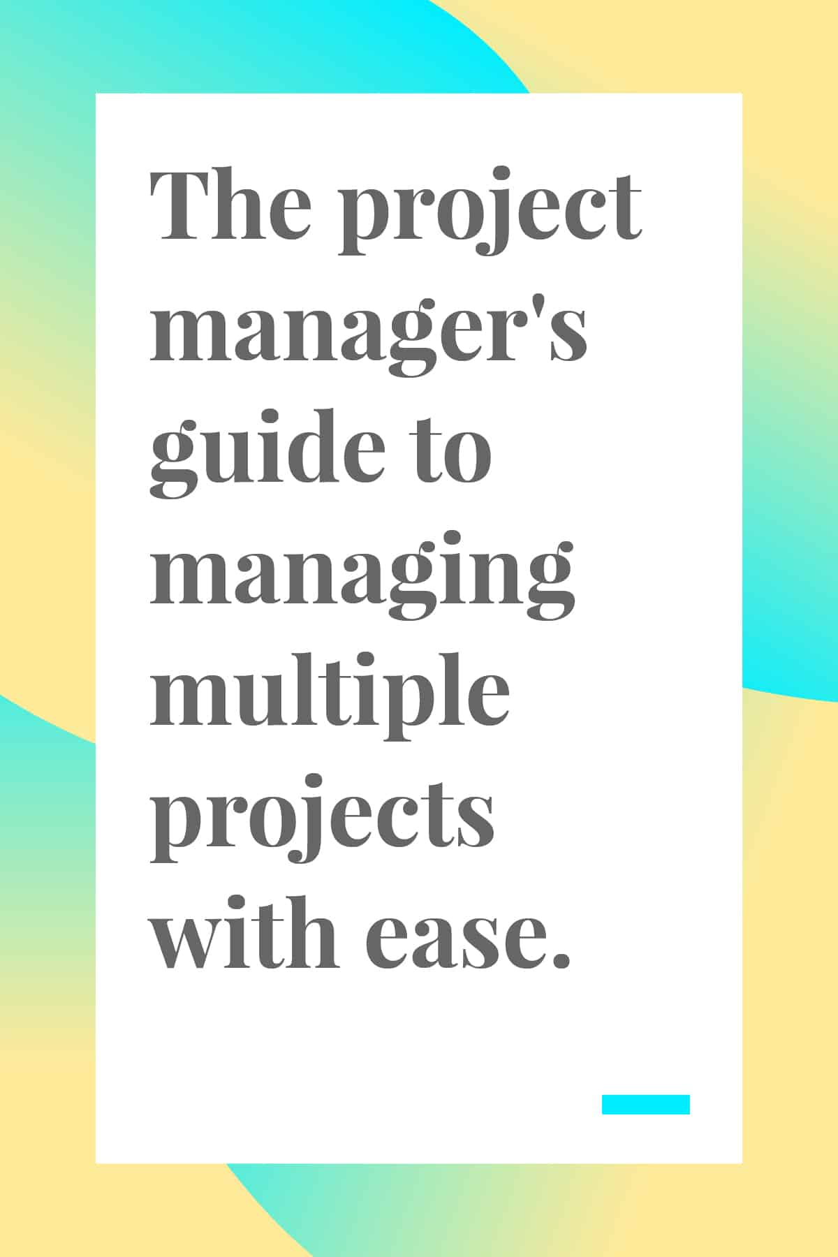 Managing multiple projects can be tough! Get everything done without losing your sanity with these useful tips. #management #projectmanagement
