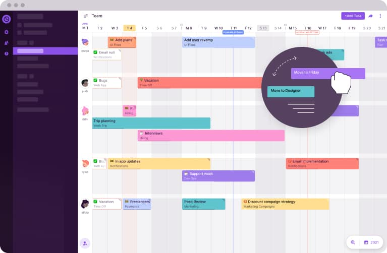 toggl plan drag and drop timeline interface
