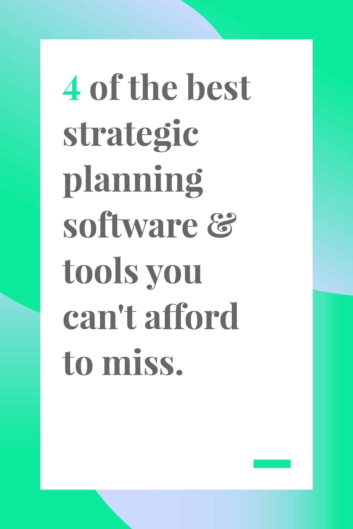 We've chosen the top strategic planning software and tools your team needs to reach its goals this year. Click through to find out what made the list. #teamwork #leadership