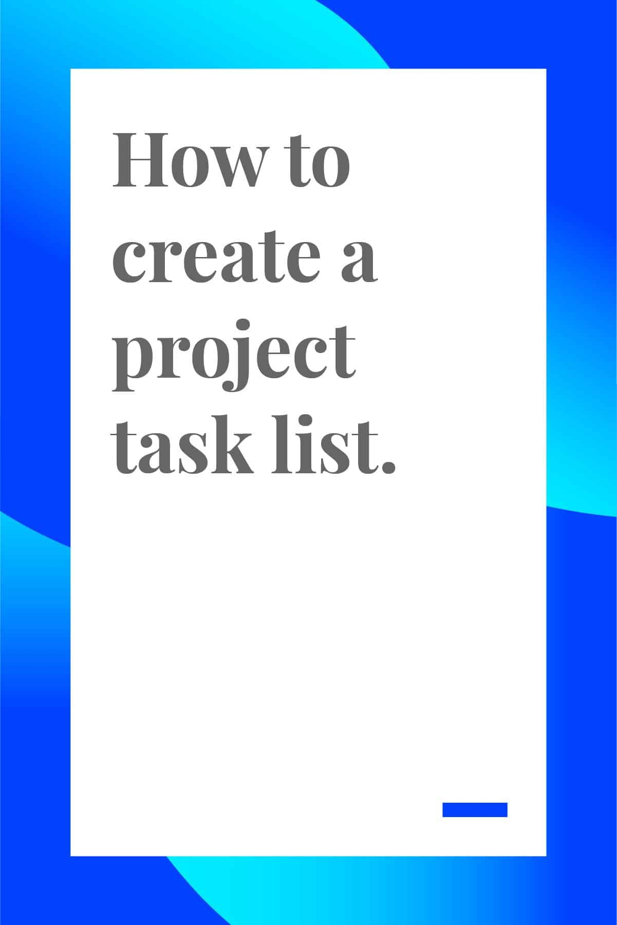 Have you ever gone grocery shopping without a list? How many items did you forget? How many did you buy that you didn't need? It's easy to forget what you need without a physical list in front of your face. Project task lists are that physical list for project managers and team leads. Project task lists are the foundation to any project. Without them, it's easy to get overwhelmed with the sheer amount of tasks that need to be done. Because project task lists are so important, let's go over how you can utilize them to make your workflow much smoother. #projectmanagementtips