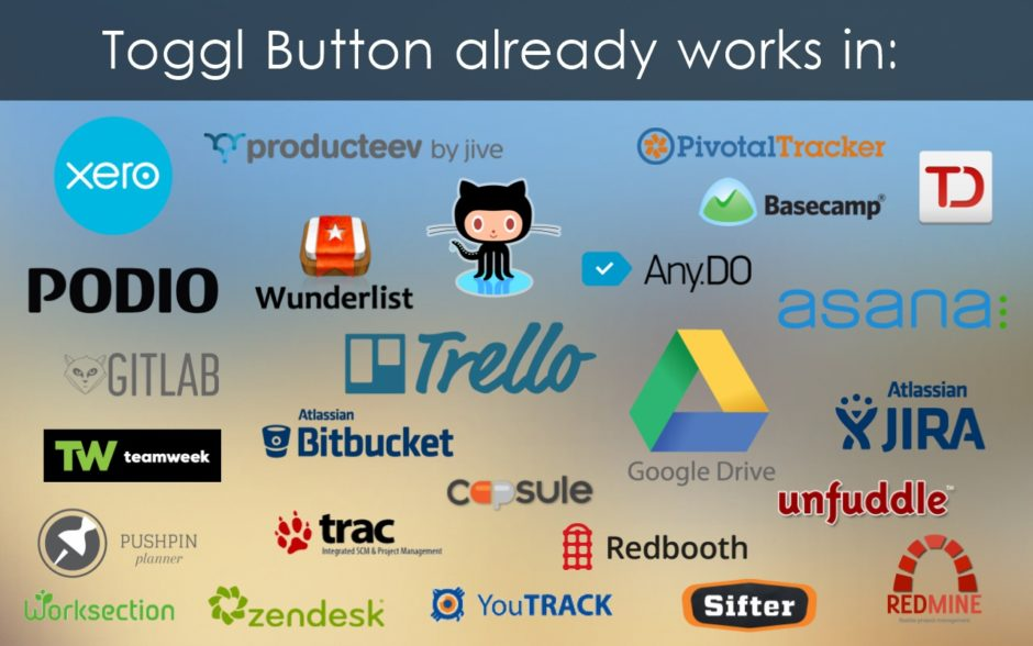 Toggl Button integrations