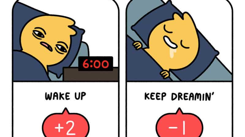 A snippet of the Create Your Workday Comic