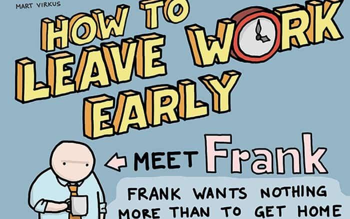 A snippet of 6 Tricks to Finish Your Workday Early infographic