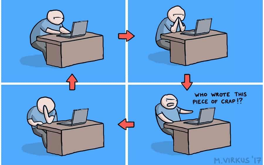 Life cycle of a software developer mini comic