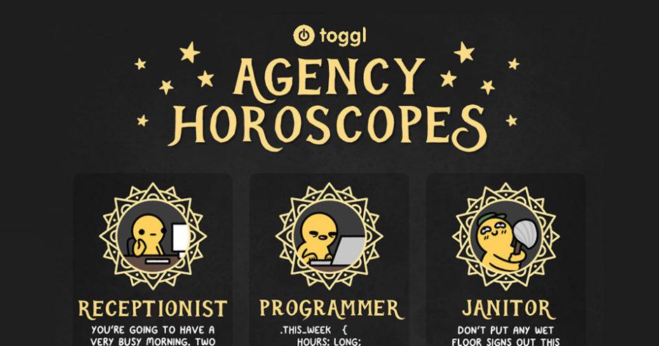 Agency Horoscopes Comic Header