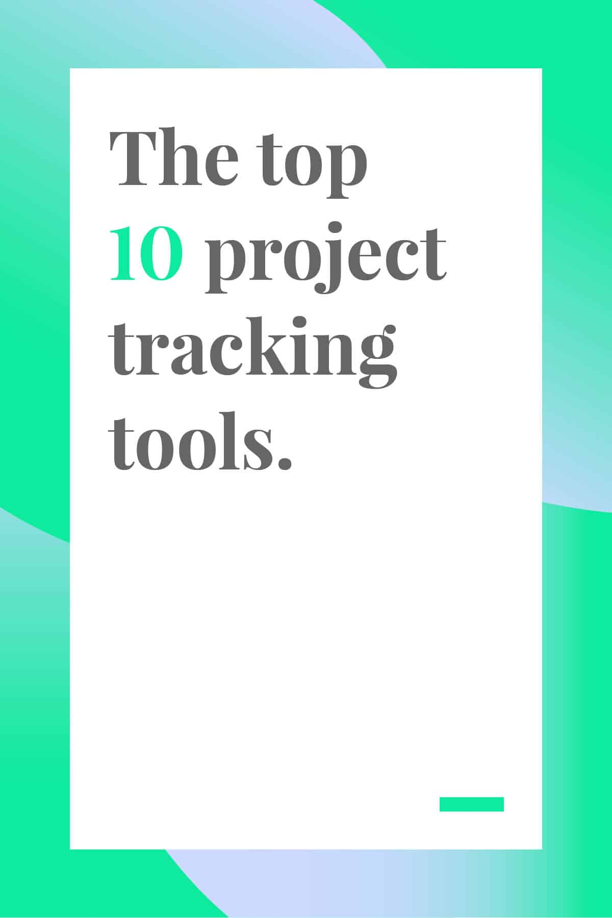 If you're juggling multiple projects at once, you need a robust project tracking tool to help you keep track of all the moving parts. This round-up of the top 10 project tracking tools will help you find the perfect tool. #projectmanagement #projecttracking #planningtools