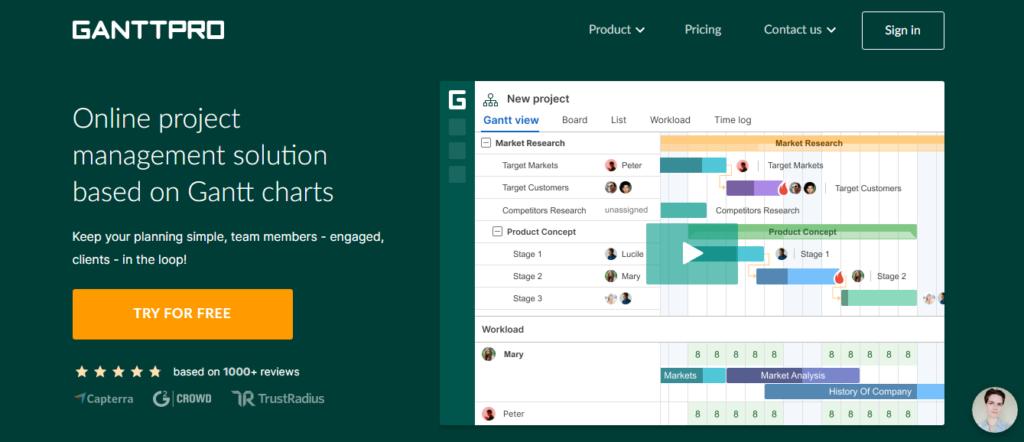 GanttPRO - Gantt Chart Based Project Management