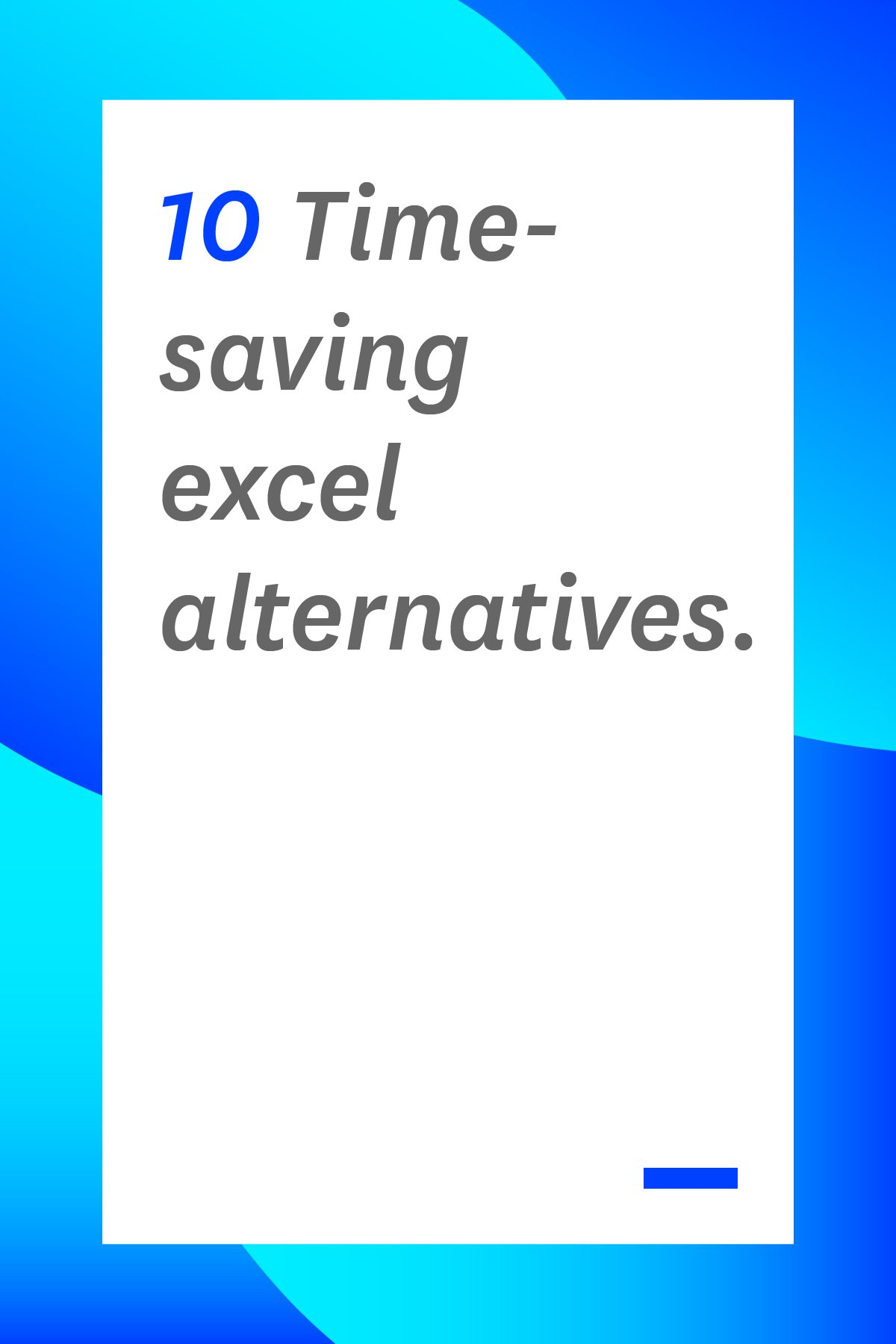 Are you still using Microsoft Excel to create spreadsheets, organize financial data, and handle basic math functions for your business? Did you know there are user-friendly alternatives out there that offer more useful operations that can make your company more efficient? To set you off on the right track, we've compiled this list of ten time-saving Excel alternatives that will provide more collaboration features and easier functionality.