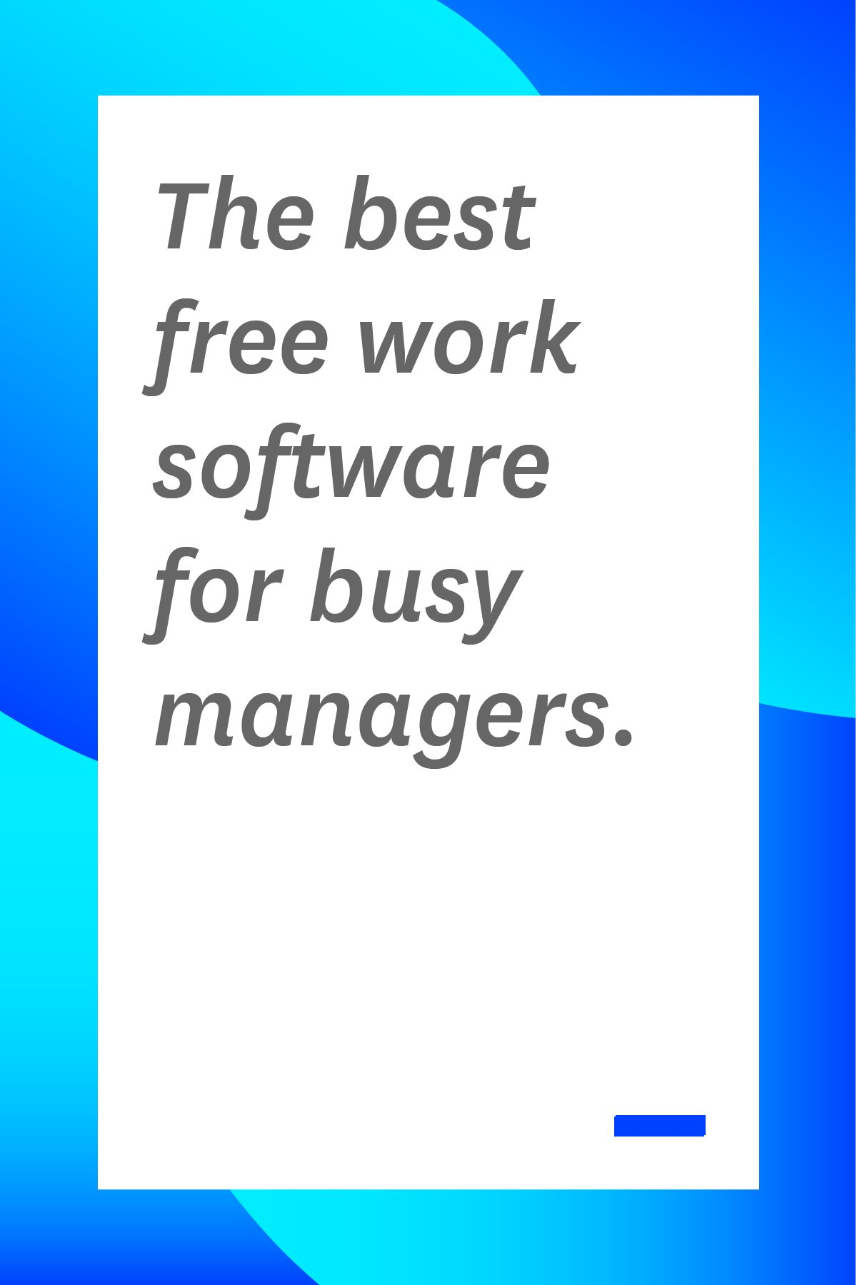 If you're a manager, you've got to worry about managing both your employees and your budget. These free work software options will help you stay organized and save money. #toolsformanagers #managertips